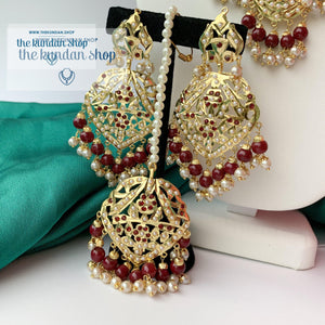Higher Grounds - Ruby, Necklace Sets - THE KUNDAN SHOP