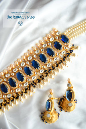 Lavish Kundan in Sapphire Necklace Sets THE KUNDAN SHOP