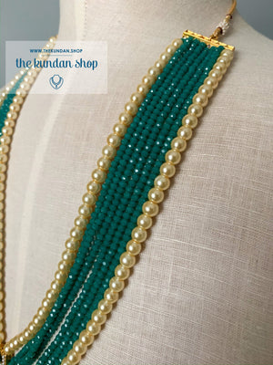 Tassel Dreams - Pine Green, Necklace Sets - THE KUNDAN SHOP