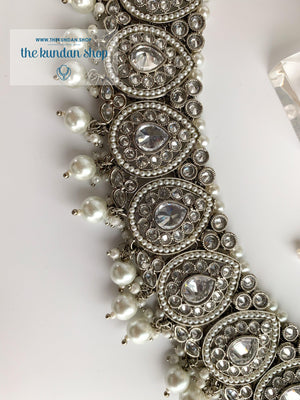 Ideal in Silver Necklace Sets THE KUNDAN SHOP