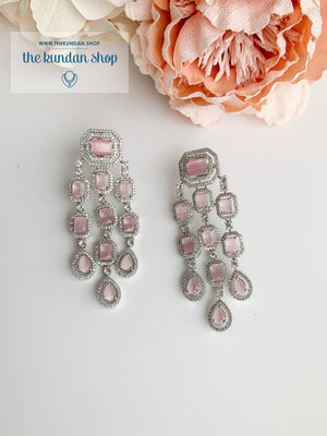 A Modern Twist in Silver Earrings THE KUNDAN SHOP