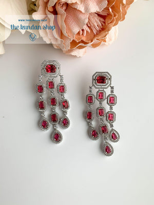 A Modern Twist in Silver Earrings THE KUNDAN SHOP Ruby