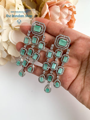 A Modern Twist in Silver Earrings THE KUNDAN SHOP Mint