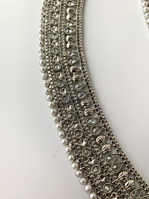 Second in Silver Anklets, Anklets - THE KUNDAN SHOP