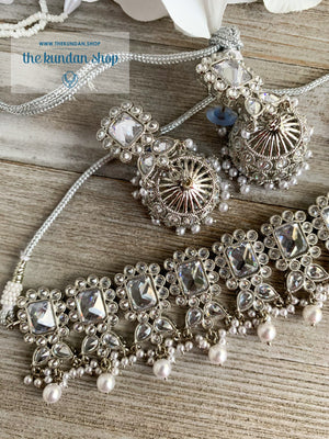 Valiant in Silver Necklace Sets THE KUNDAN SHOP
