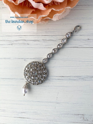 Around in Silver, Maangtikka - THE KUNDAN SHOP