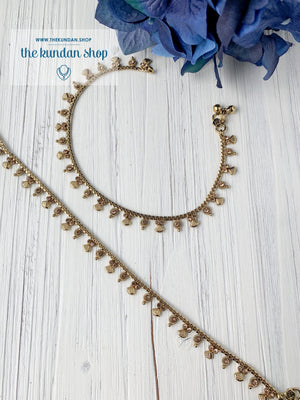 A Layer of Rhinestones - Dainty Anklets Anklets THE KUNDAN SHOP