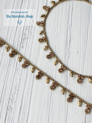 A Simple Leaf - Dainty Anklets Anklets THE KUNDAN SHOP