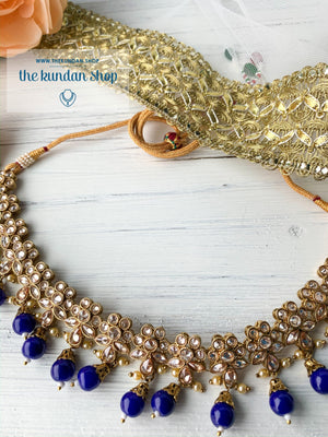 Simplicity - Blue, Necklace Sets - THE KUNDAN SHOP
