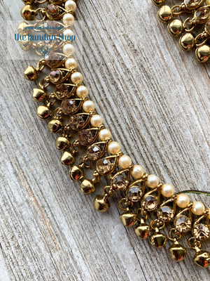 Simple Rhinestone Anklet, Anklets - THE KUNDAN SHOP