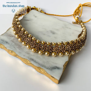 Effortless Rhinestone Choker, Necklace Sets - THE KUNDAN SHOP