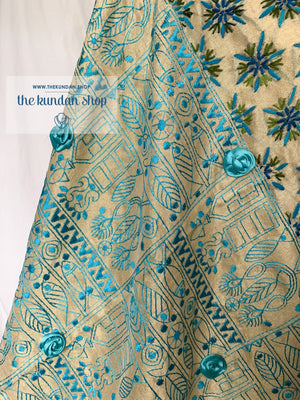 Phulkari Edge, Dupatta - THE KUNDAN SHOP
