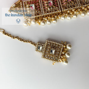 Right Angles in Pearl, Necklace Sets - THE KUNDAN SHOP
