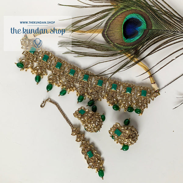 In a Mist - Green Necklace Sets THE KUNDAN SHOP
