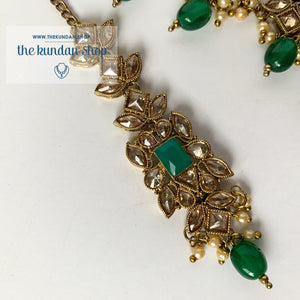 In a Mist - Green, Necklace Sets - THE KUNDAN SHOP