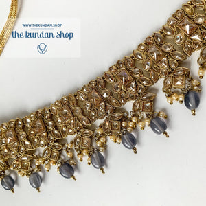In a Mist - Grey Necklace Sets THE KUNDAN SHOP