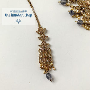 In a Mist - Grey, Necklace Sets - THE KUNDAN SHOP