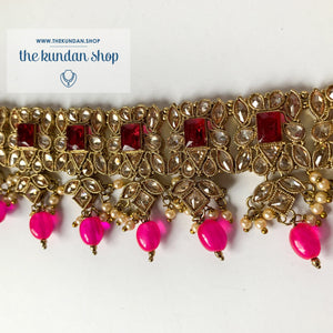 In a Mist - Pink, Necklace Sets - THE KUNDAN SHOP