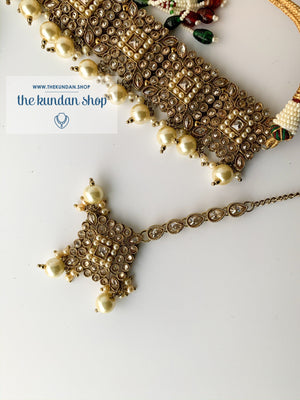 Chasing the Sunset - Pearl, Necklace Sets - THE KUNDAN SHOP