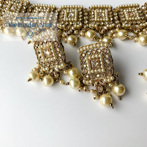 In the Clouds - Pearl, Necklace Sets - THE KUNDAN SHOP