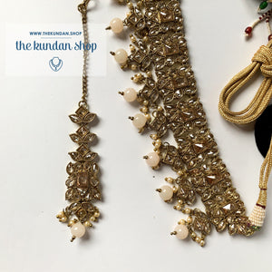 In a Mist - Off White Necklace Sets THE KUNDAN SHOP