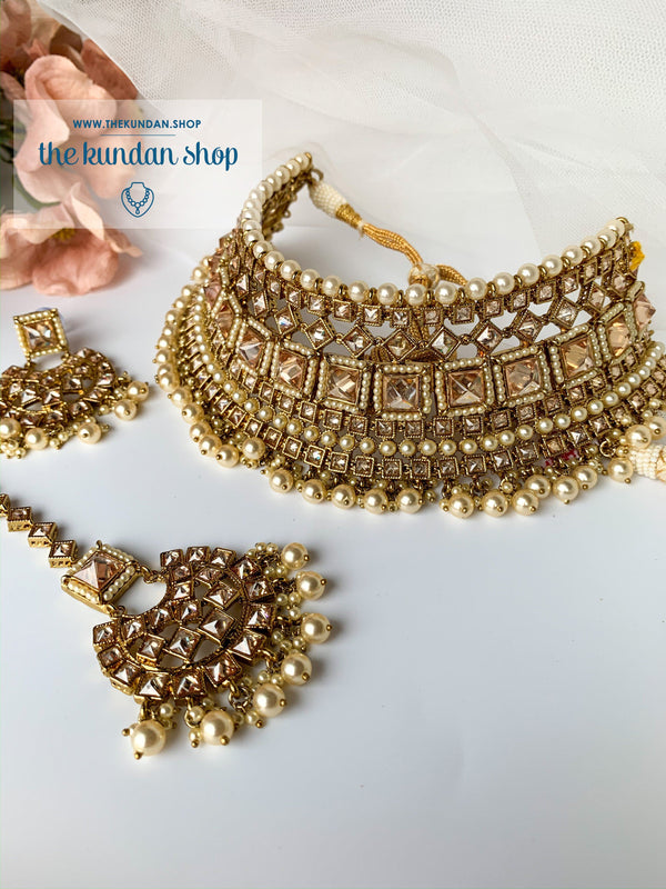 Luring in Pearl, Necklace Sets - THE KUNDAN SHOP