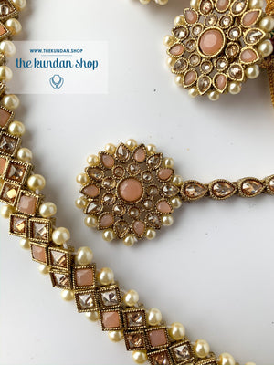 Full Bloom - Peach, Necklace Sets - THE KUNDAN SHOP