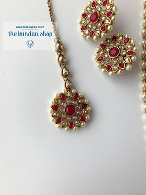 Full Bloom - Dark Pink, Necklace Sets - THE KUNDAN SHOP