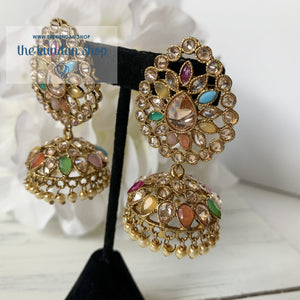 Surrounded Polki Earrings THE KUNDAN SHOP