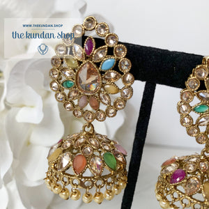 Surrounded Polki Earrings THE KUNDAN SHOP Multi