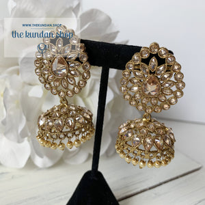 Surrounded Polki Earrings THE KUNDAN SHOP Gold