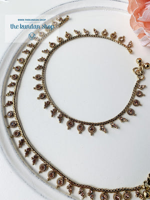 Simple Layer Anklet, Anklets - THE KUNDAN SHOP