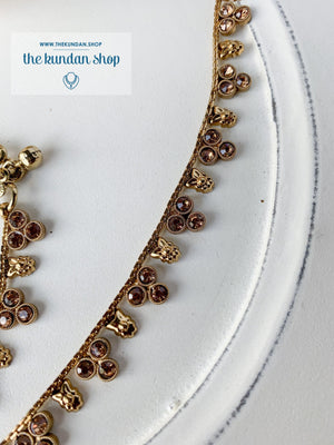 Rhinestone Trio Anklets, Anklets - THE KUNDAN SHOP