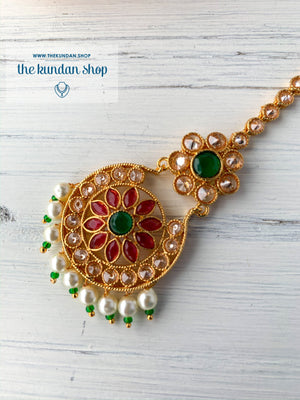 A Little Flower, Maangtikka - THE KUNDAN SHOP