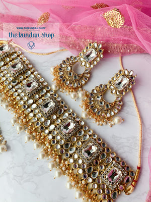 Troublemaker 2.0 in Clear Stone, Necklace Sets - THE KUNDAN SHOP
