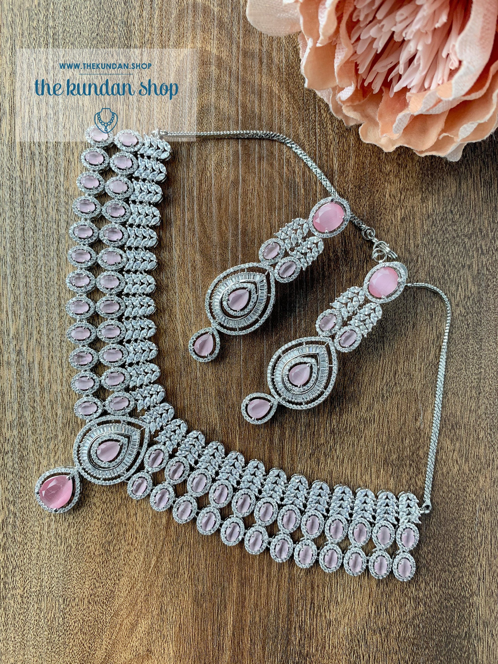 Veiled in Pink Necklace Sets THE KUNDAN SHOP