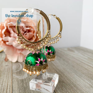 White Flower Baali 2.0 (various colors), Earrings - THE KUNDAN SHOP