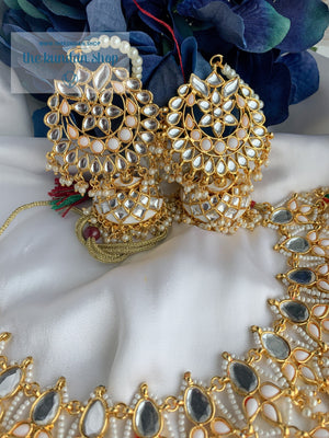 Storytelling in White Necklace Sets THE KUNDAN SHOP