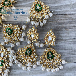 Wisp of Kundan - Green