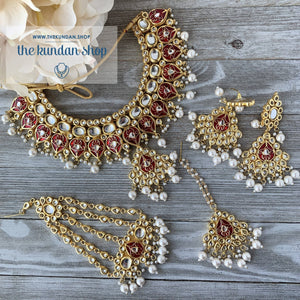 Wisp of Kundan - Red
