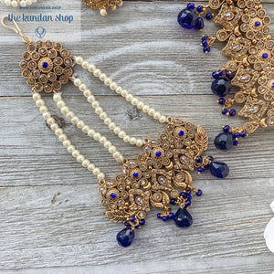 Worth a Fortune - Midnight Blue Necklace Sets THE KUNDAN SHOP
