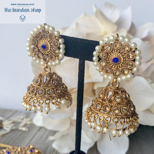Worth a Fortune - Midnight Blue, Necklace Sets - THE KUNDAN SHOP