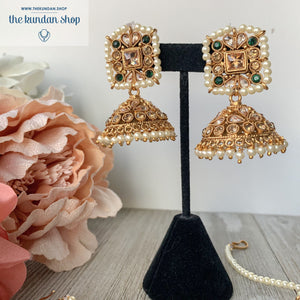 Worth a Fortune - Green Necklace Sets THE KUNDAN SHOP