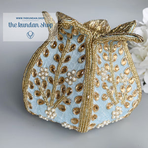 The Lotus Potli, Clutch - THE KUNDAN SHOP