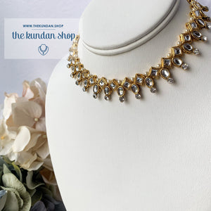 Diamond Mine Choker, Necklace Sets - THE KUNDAN SHOP
