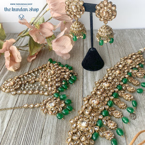 Extravagance in Green, Necklace Sets - THE KUNDAN SHOP