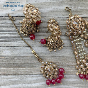 Extravagance in Ruby, Necklace Sets - THE KUNDAN SHOP