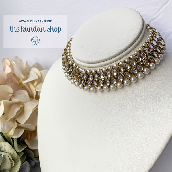 Glam Choker, Necklace Sets - THE KUNDAN SHOP