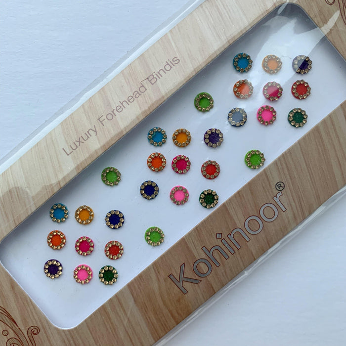31 PC Gold Rhinestone Bindi Pack, Bindis - THE KUNDAN SHOP
