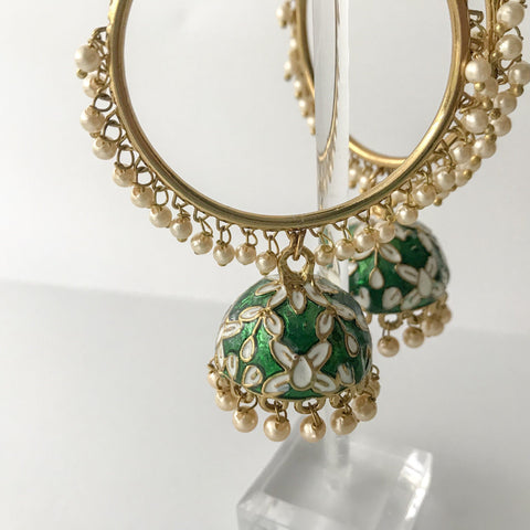 White Floral Baali, Baalis - THE KUNDAN SHOP